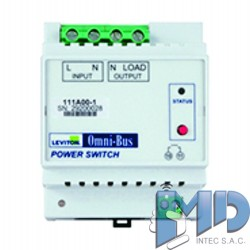 Módulo de interruptor de alimentación Omni-Bus, riel DIN LEVITON 111A00-1