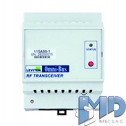Transceptor de radiofrecuencia omni-bus, riel din LEVITON 115A00-1