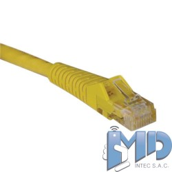 Cable Patch Moldeado Snagless Cat6 Gigabit (RJ45 M/M), amarillo, de 0.91m.