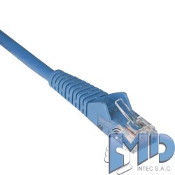 Cable Patch Moldeado Snagless Cat6 Gigabit (RJ45 M/M), azul, de 0.91m.