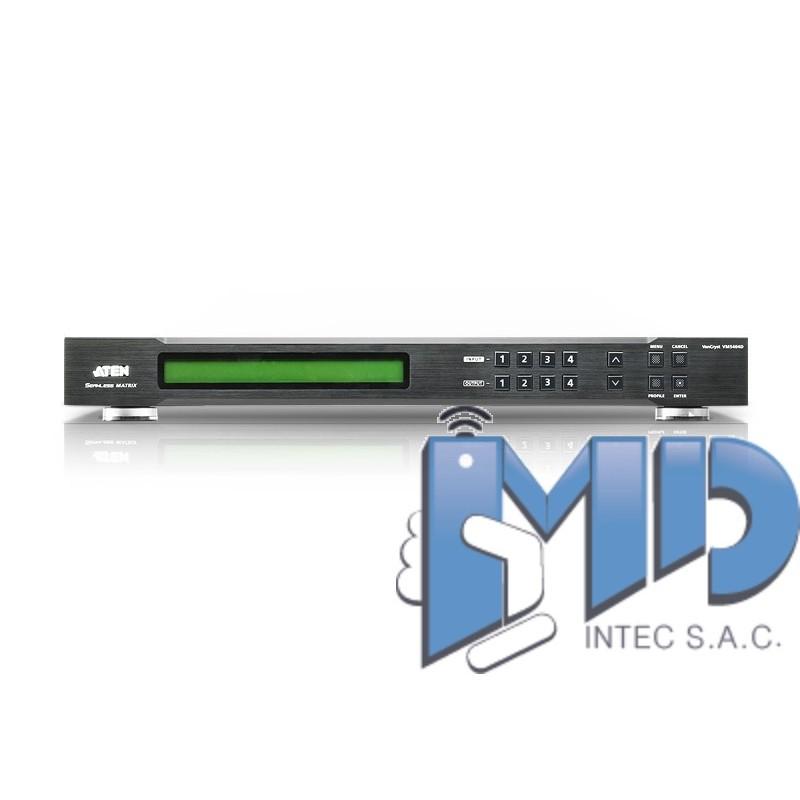 vm5404d 4 x 4 conmutador de matriz dvi con videowall escalador tienda online md intec sac. Black Bedroom Furniture Sets. Home Design Ideas