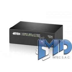 VS0102 - Divisor VGA/Audio de 2 puertos (450 MHz)