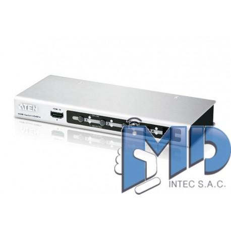VS481A - Switch HDMI de 4 puertos con mando a distancia por infrarrojos