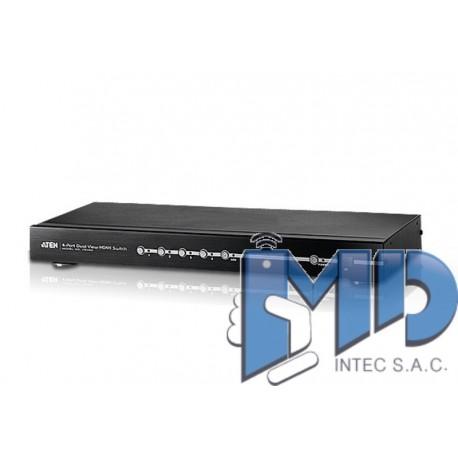 VS482 - Conmutador HDMI de 4 puertos con salida dual