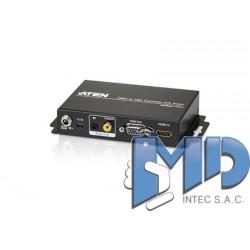 VE156 - Alargador empotrable (EE. UU.) Cat 5 VGA/Audio (1280 x 1024 a 150 m)