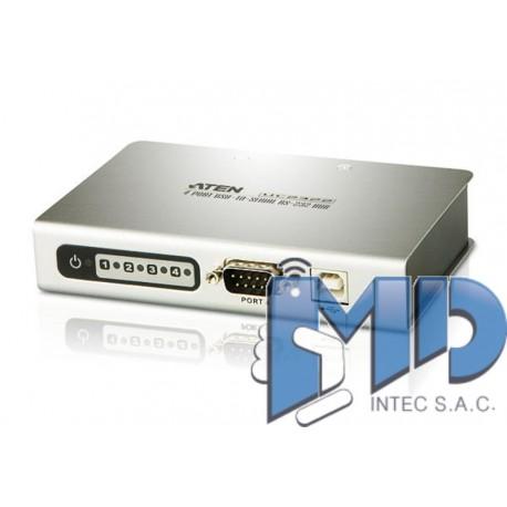 UC2324 - Concentrador USB a serie RS-232 de 4 puertos