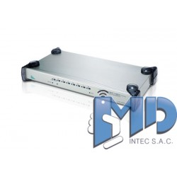 CS428 - Conmutador KVM VGA/Audio PS/2 de 8 puertos para 4 consolas