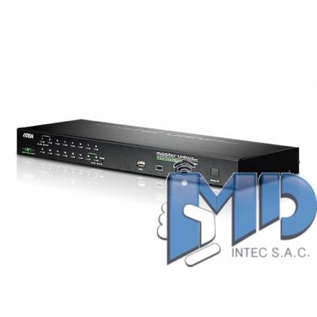 CS1716i - Acceso compartido para 1 local/remoto Conmutador KVM PS/2-USB de 16 puertos sobre IP