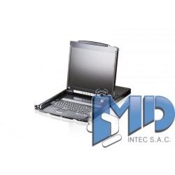 CL5800 - Consola LCD con doble riel VGA PS/2-USB con soporte para periféricos USB