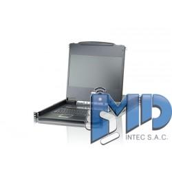CL6708MW - Conmutador KVM LCD FHD DVI de 8 puertos con un solo raíl