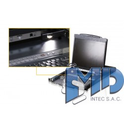 CL5808 - Conmutador KVM LCD con doble riel VGA PS/2-USB de 8 puertos con puerto  conexión  para periféricos USB