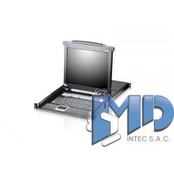 CL5708 - Conmutador KVM LCD VGA PS/2-USB de 8 puertos con puerto para conexión en cadena y soporte para periféricos USB