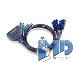 CS62S - Conmutador KVM con cable VGA PS/2 de 2 puertos (0,9m)