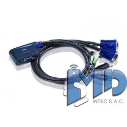 CS62U - 2-Port USB VGA/Audio Cable KVM Switch (1.8m)
